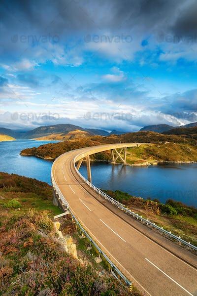 The Kylescu Bridge crossing Loch a' Chàirn