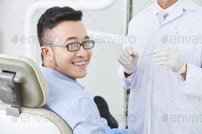 Happy Asian Patient Smiling