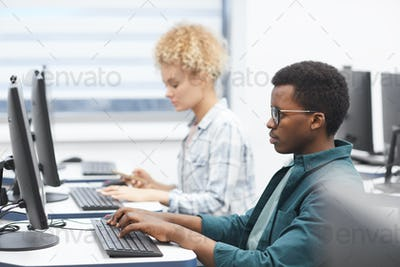 Students Using Computers in University