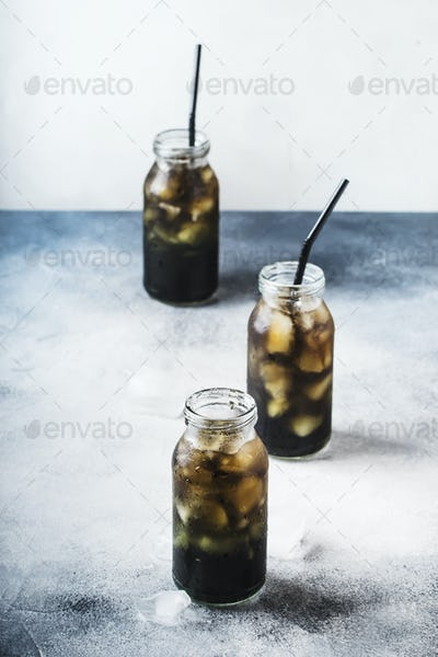 cold black detox mineral water