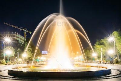 Batumi, Adjara, Georgia. Singing And Dancing Fountains Is Local Landmark At Boulevard Fountains