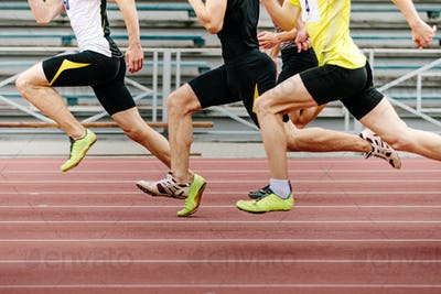 legs men athletes runners