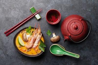 Tom Yum traditional Thai soup