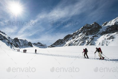 Group of ski mountaineers