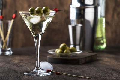 Martini vodka cocktail