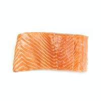 Fresh salmon fillet isolated on white background