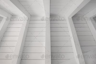 White wooden ceiling