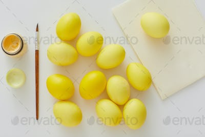 Pastel Yellow Easter Eggs