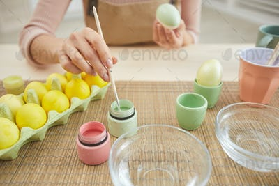 Painting Easter Eggs Close up
