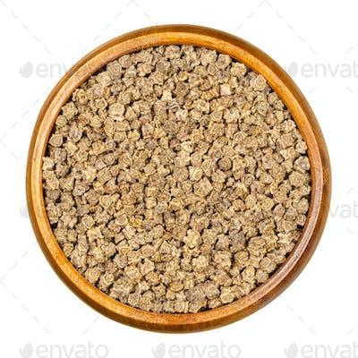 Fodder beet seeds, in wooden bowl