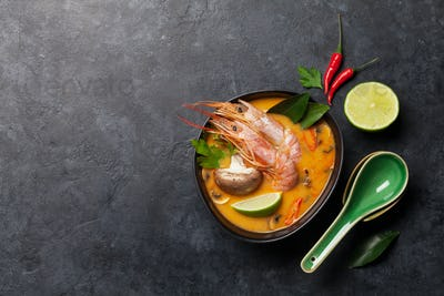 Tom Yum traditional Thai soup