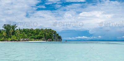 Water Hut of Homestay on Kri Island. Raja Ampat, Indonesia, West Papua