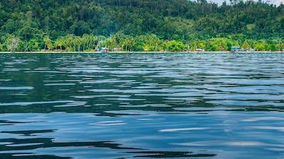 Local Village on Monsuar Island. Raja Ampat, Indonesia, West Papua