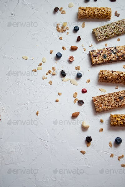 Composition of healthy raw dessert snack. Fitness dietary food