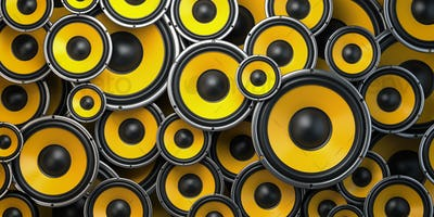 Acoustic sound speakers background.