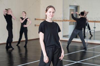 Female Dancer In Black Portrait