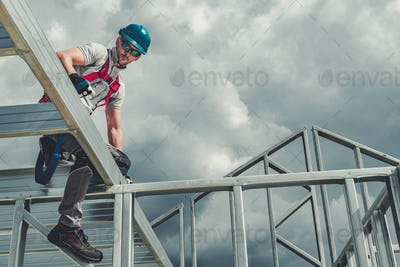 Safety Hard Hat and Harness