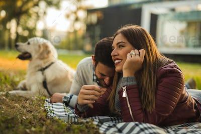 Enjoying time outdoors