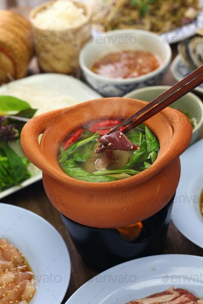 chim chum, Thai Isan traditional healthy hot pot