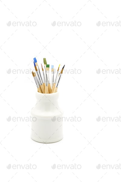 Container of Brushes