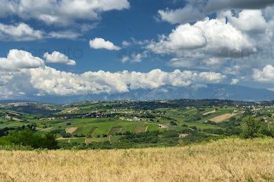 Summer landscape near Vasto, Abruzzo