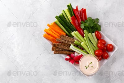 Healthy vegetables snack