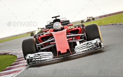 Race car leading