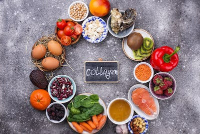 Food rich in collagen. Healthy products