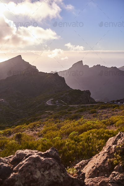 Landscape of the journey to Masca in Tenerife, Canary Islands