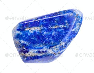 polished Lapis lazuli (Lazurite) gem isolated