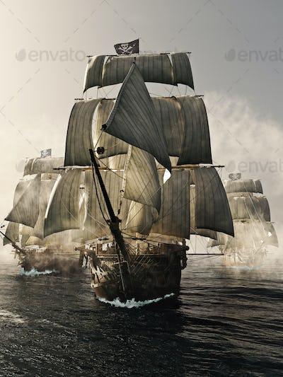 Pirate ship fleet