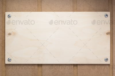 nameplate at wooden mdf boards  background