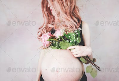 Young pregnant woman in her third trimester