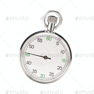 Mechanical stopwatch isolated on white background