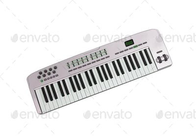 Music keyboard isolated on white background