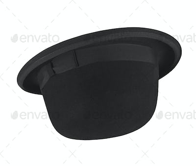 Black hat on the white background