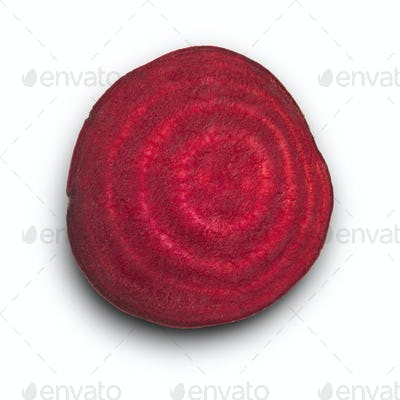Red beet or beetroot isolated on white background.
