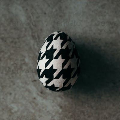 Easter egg decorated with paper napkins