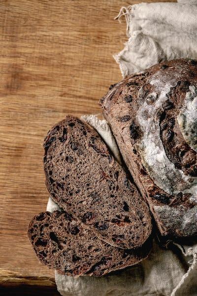 Homemade chocolate bread