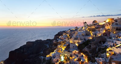 Oia village in Santorini island - Greece