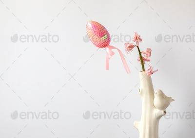Easter composition Traditional decoration. Holiday background.