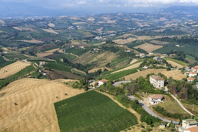 Rural landscape from Ripatransone, Marches, Italy