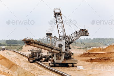 Giant bucket wheel excavator.