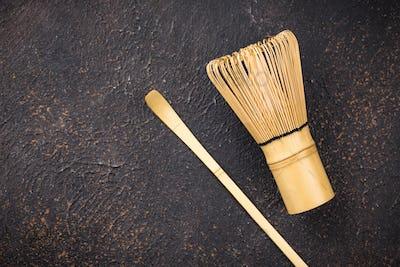Tools for prepared green tea matcha