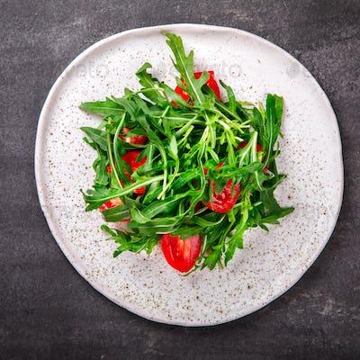 Salad with arugula , Fresh Cherry Tomatoes