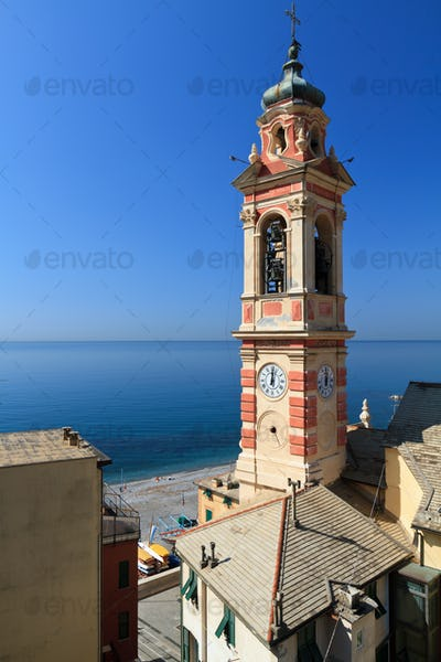 bell tower in Sori, italy
