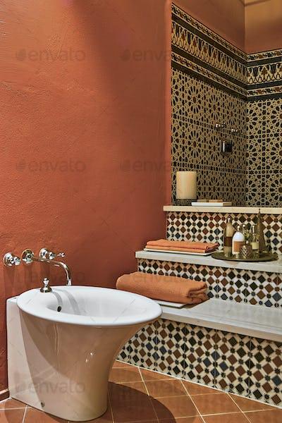 Interiors of a Ethnic Bathroom
