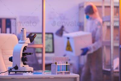 Unrecognizable Person Working In Laboratory