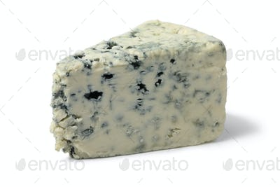 Wedge of creamy blue cheese