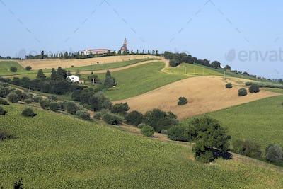 Rural landscape near Macerata, Marches, Italy